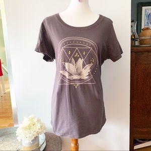 Torrid gray lotus flower and moon t-shirt.